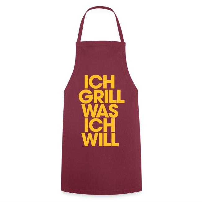 ich Grill was ich will (Gelb) - Grillschürze