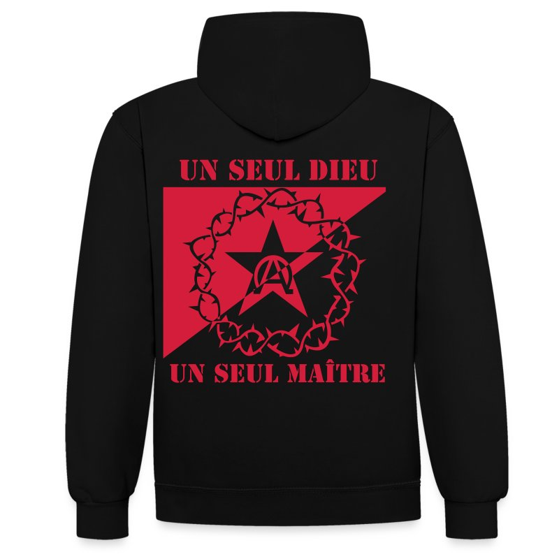 drapeau_anar - Sweat-shirt contraste