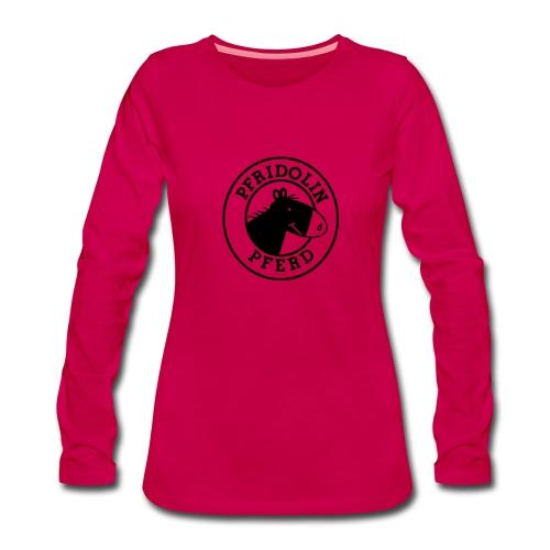 Longsleeve mit Aufdruck in schwarz. Gibt's auch in berry! - Frauen Premium Langarmshirt