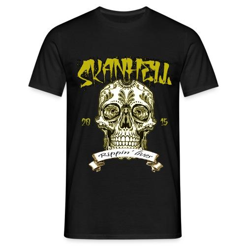 Skanhell T-Shirt Mexican Skull - Maglietta da uomo