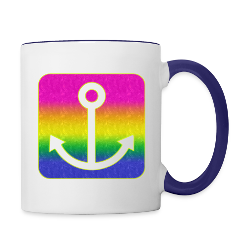 Anker Regenbogen - Tasse zweifarbig
