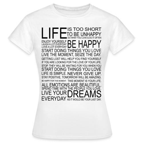 Text Tshirt Damen - Frauen T-Shirt