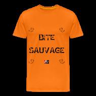Tee shirts ~ Tee shirt Premium Homme ~ BITE SAUVAGE - Jeux de Mots Francois Ville
