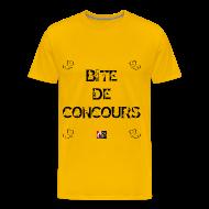 Tee shirts ~ Tee shirt Premium Homme ~ BITE DE CONCOURS - Jeux de Mots Francois Ville