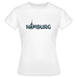 Hamburg Michel T-Shirt (Damen/Weiß) - Frauen T-Shirt