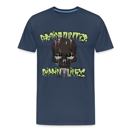 Brainhunter Skull T-Shirt - Maglietta Premium da uomo