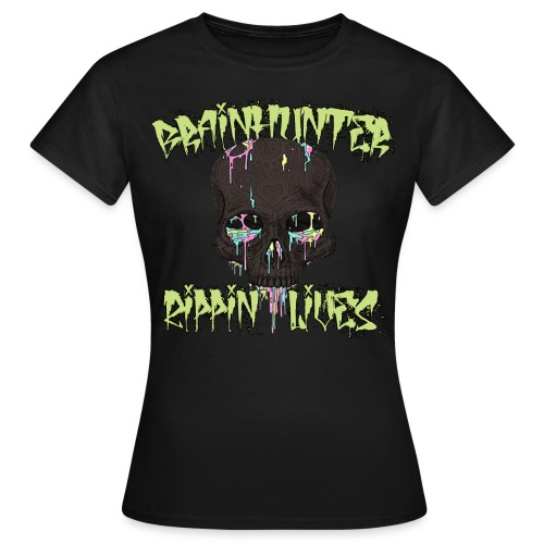 Brainhunter Acid Skull Girl T-Shirt - Maglietta da donna