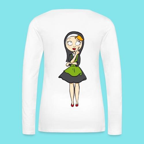 Long Sleeve T-shirt Nadenken - Vrouwen Premium shirt met lange mouwen