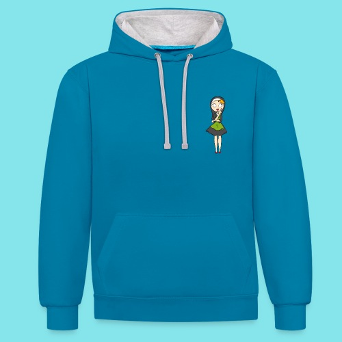 Hoodie Nadenken - Contrast hoodie