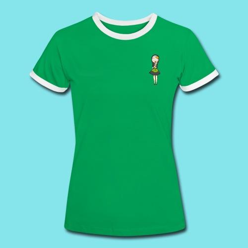 T-shirt Nadenken - Vrouwen contrastshirt
