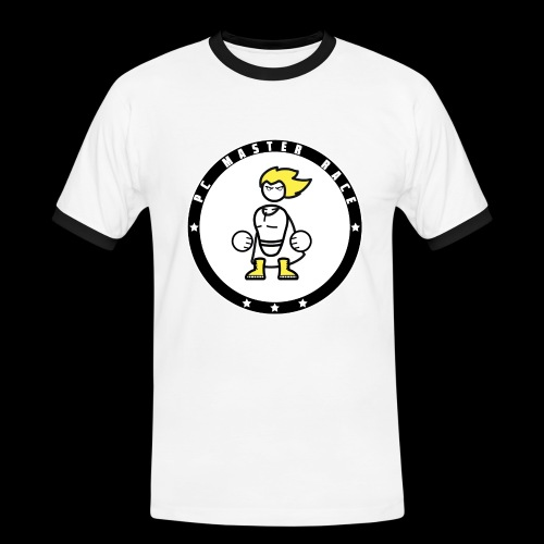 PC Master Race Emblem - White (Men) - Men's Ringer Shirt