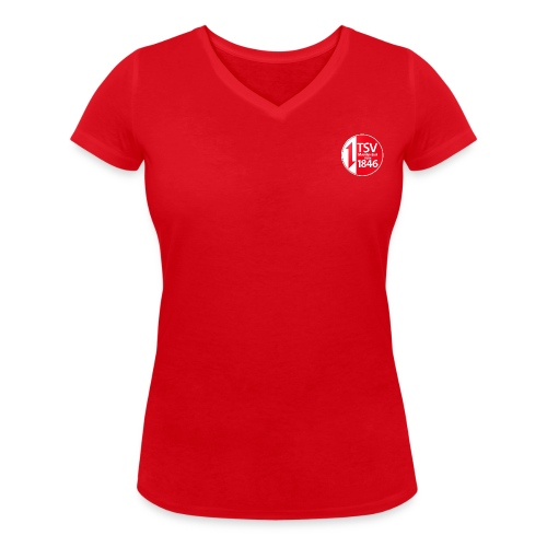 Damen T-Shirt Trampolin - Frauen Bio-T-Shirt mit V-Ausschnitt von Stanley & Stella