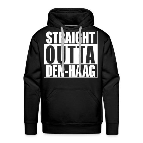 Straight outta Den-Haag - Mannen Premium hoodie