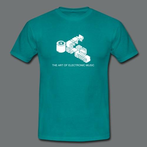 Männer-Shirt City of Drums Logo  Divablau/weiß - Männer T-Shirt