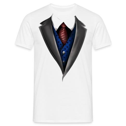 Tuxedo Tie Designs blue vest - Männer T-Shirt