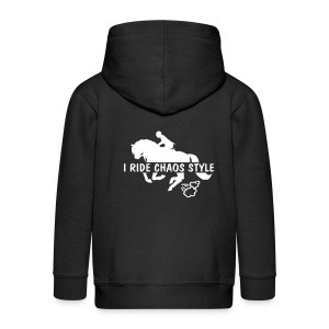 horse riding chaos style - Kids' Premium Zip Hoodie