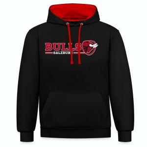 Salzburg Bulls Premium Hoody schwarz/rot - Kontrast-Hoodie
