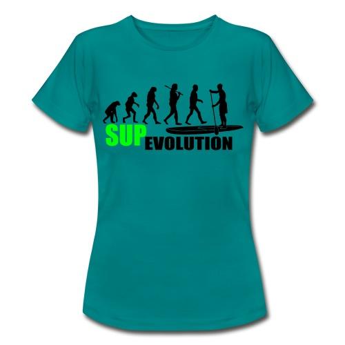 Frauen Standard-T-Shirt: SUP Evolution  - Frauen T-Shirt