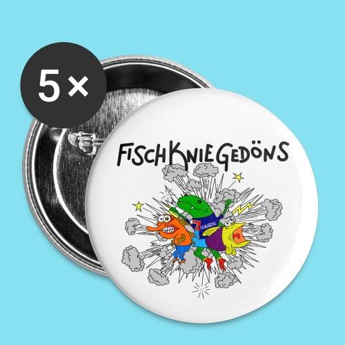 FischKnieButton - Buttons mittel 32 mm
