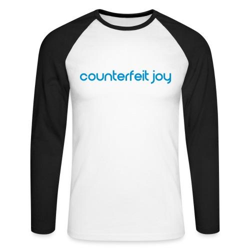 Counterfeit Joy - Mens retro ringer baseball t shirt - Men's Long Sleeve Baseball T-Shirt