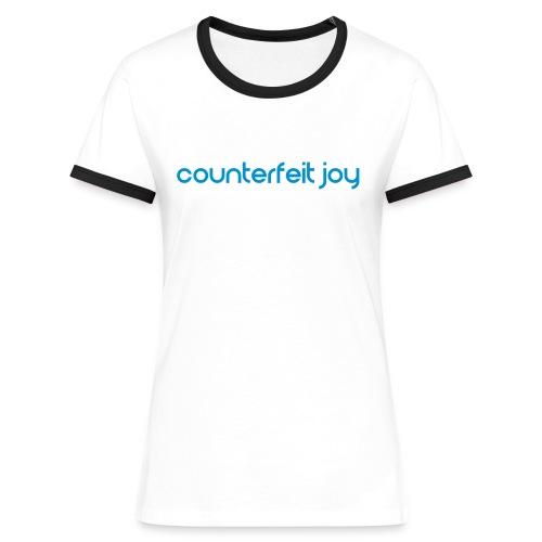 Counterfeit Joy - Ladies retro ringer t shirt - Women's Ringer T-Shirt