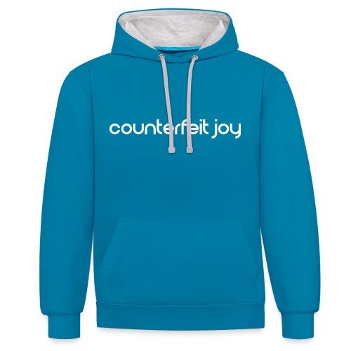 Counterfeit Joy - Ladies logo hoodie - Contrast Colour Hoodie