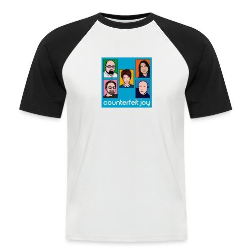 Counterfeit Joy - Mens short sleeved baseball shirt with picture logo - Men's Baseball T-Shirt