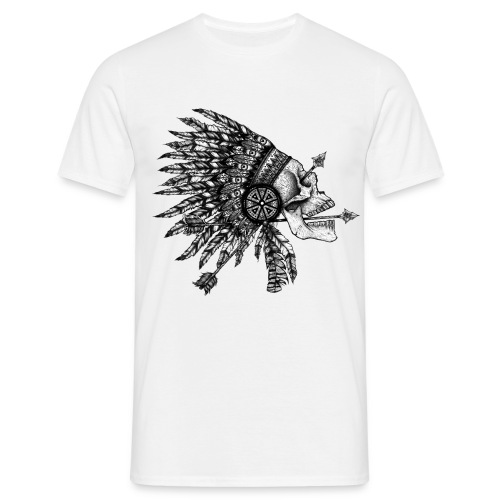 Indian Skull - T-shirt Homme