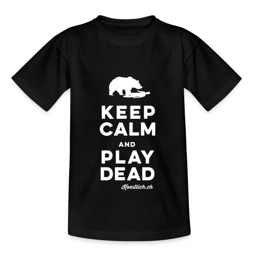 KINDER SHIRT - RED - Keep Calm & Play Dead - Kinder T-Shirt
