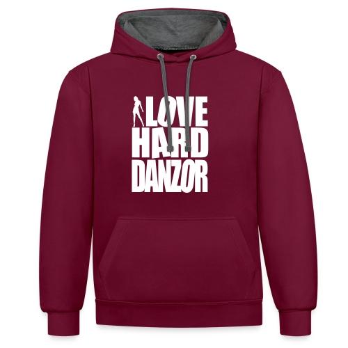 I Love Harddanzor Pullover - Kontrast-Hoodie