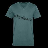 T-Shirts ~ Men's V-Neck T-Shirt ~ HawaiiFlowers Invert V Men