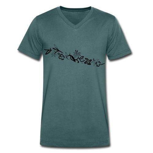 HawaiiFlowers Invert V Men - Men's Organic V-Neck T-Shirt by Stanley & Stella