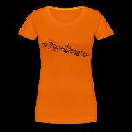 T-Shirts ~ Women's Premium T-Shirt ~ HawaiiFlowers Invert Women
