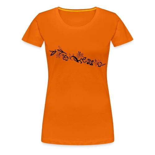 HawaiiFlowers Invert Women - Women's Premium T-Shirt