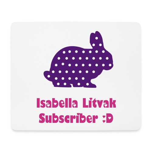 The Official Isabella Litvak Mouse Mat - Mouse Pad (horizontal)