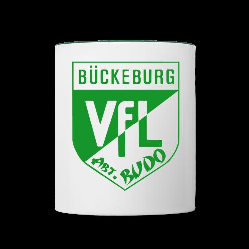 Budo-Tasse grün - Sponsoring für die Jugend - Tasse zweifarbig