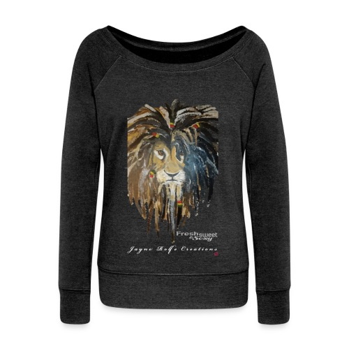 (EXCLUSIVE to FSS) Jayne Rolfe Creations Dred Lion  - Women's Boat Neck Long Sleeve Top