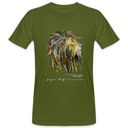 (EXCLUSIVE to FSS) Jayne Rolfe Creations Dred Lion 2 - Men's Organic T-Shirt