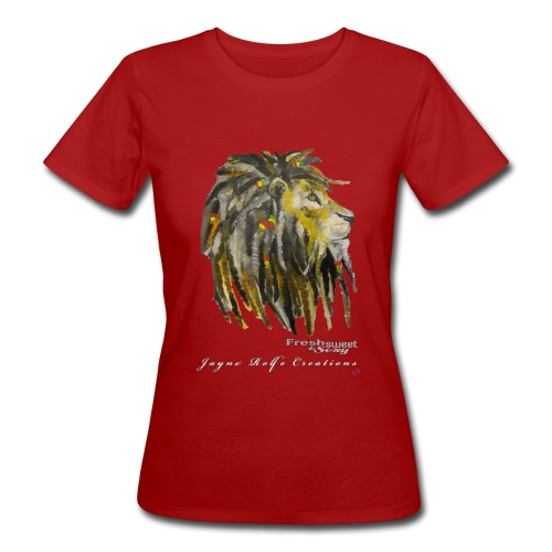 (EXCLUSIVE to FSS) Jayne Rolfe Creations Dred Lion 2 - Women's Organic T-Shirt