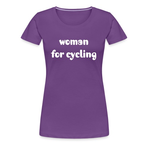 woman for cycling - Frauen Premium T-Shirt