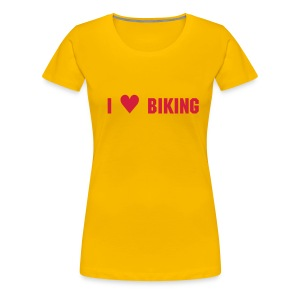 I love biking - Frauen Premium T-Shirt