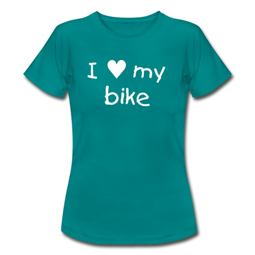 I love my bike - Frauen T-Shirt