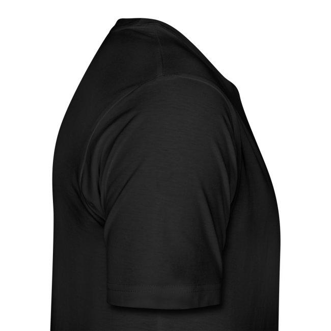Premium T-Shirt fsc (schwarz hellblau))