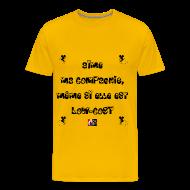 Tee shirts ~ Tee shirt Premium Homme ~ Aime ma COMPAGNIE, même si elle est LOW-COST - Jeux de Mots Francois Ville