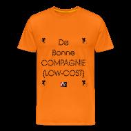 Tee shirts ~ Tee shirt Premium Homme ~ De bonne COMPAGNIE (LOW-COST) - Jeux de Mots Francois Ville