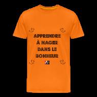 Tee shirts ~ Tee shirt Premium Homme ~ Apprendre à NAGER (dans le BONHEUR) - Jeux de Mots Francois Ville