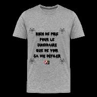Tee shirts ~ Tee shirt Premium Homme ~ Rien de pire pour le SUICIDAIRE que de voir sa VIE DÉFILER - Jeux de Mots Francois Ville