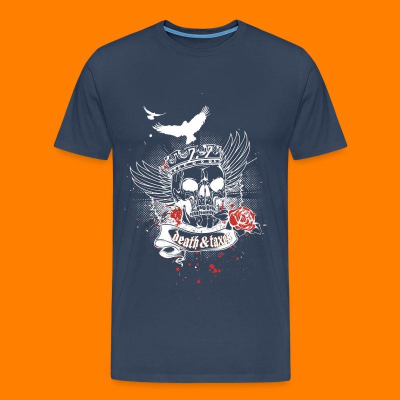 Death & Taxes tee shirt - Men's Premium T-Shirt