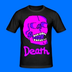 Pink Death Skull - Men's Slim Fit T-Shirt