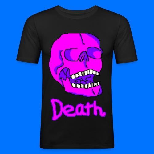 Pink Death Skull - Men's Slim Fit T-Shirt